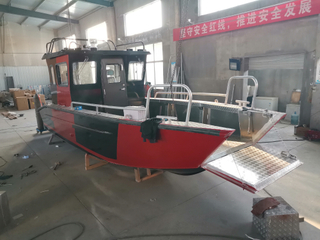 25ft Aluminum Landing Craft With Cabin